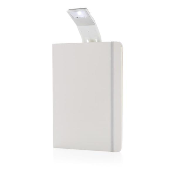 A5 notitieboek met LED leeslamp