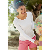Lady-fit valueweight long sleeve t (61-404-0) white xxl