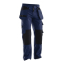 Jobman 2312 Trousers cotton hp navy/zwart C42