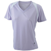 Ladies' Running-T - lila/wit