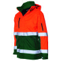 Parka ISO20471 Bicolor 403004 Fluor Orange-Green XXL