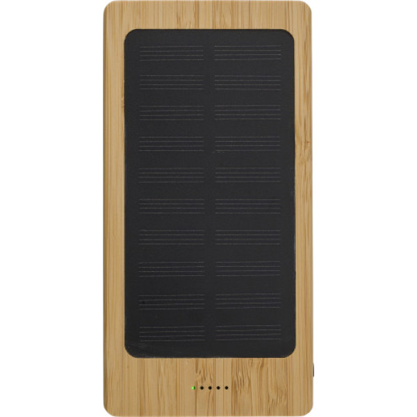 Bamboo solar power bank