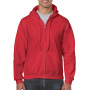 Gildan Sweater Hooded Full Zip HeavyBlend for him Red S