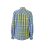 Ladies' Checked Blouse royal/blauw-groen-wit
