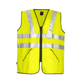 6702 VEST HV CL.3 YELLOW ONE SIZE