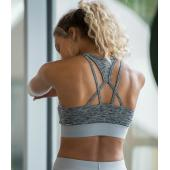 AWDis Ladies Cool Cross Back Crop Top, Grey Melange, L, Just Cool