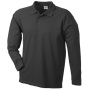 Polo Piqué Heavy Long-Sleeved zwart
