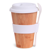 SENZA Bamboo Cup with Spoon White