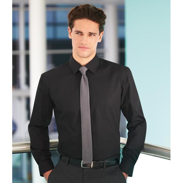 Alba Long Sleeve Slim Fit Poplin Shirt
