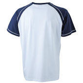 Men's Raglan-T - wit/navy