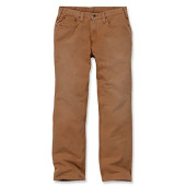 Weathered duck 5-pocket pant