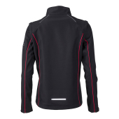Ladies' Zip-Off Softshell Jacket - zwart/rood