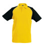 Baseballpolo yellow / black 3xl