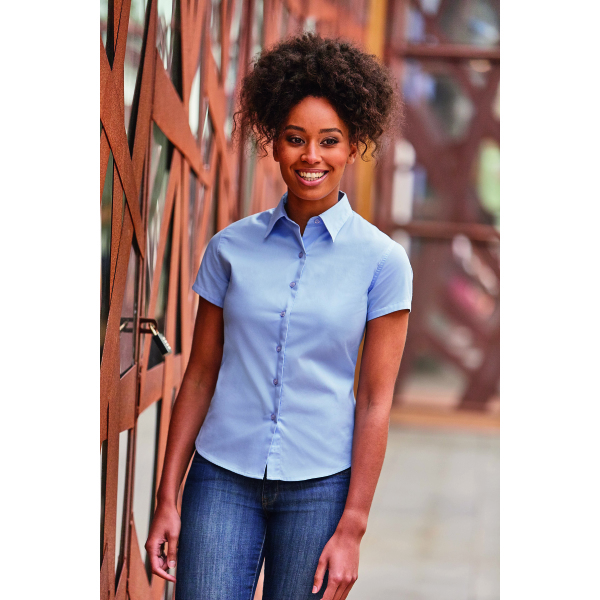 Ladies s/s Classic Twill Shirt