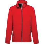 2-laagse herensoftshelljas red m