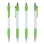 White Striped Grip pen NE-lime/Blue Ink