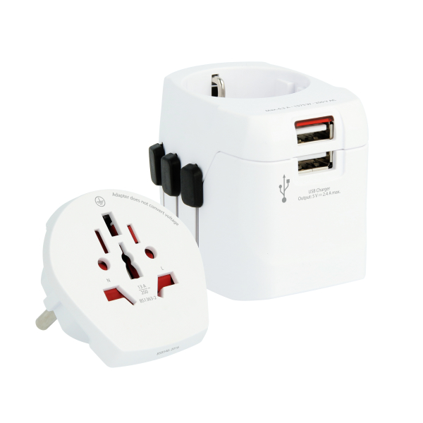 Bedrukte SKROSS® PRO Light USB - World Adaptor & Charger