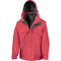 3-in-1 zip and clip jacket red / black 'l