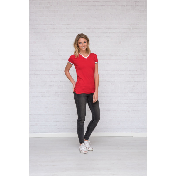 1261 T-shirt Double-V cot/elast for her
