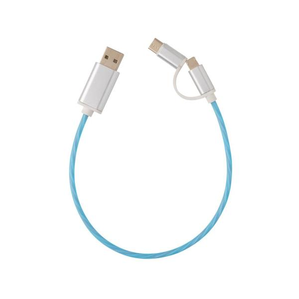 3-in-1 LED flow kabel, blauw
