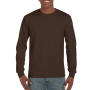 Gildan T-shirt Ultra Cotton LS Dark Chocolate S