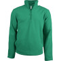 Enzo - fleece met ritskraag kelly green xxl