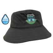 Polyester Waterproof Storm Bucket Hat in zwart