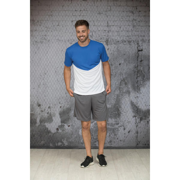 L&S Contrast Sports T-shirt for him