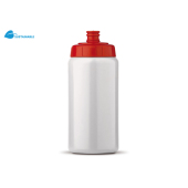 Sportbidon Basic 500ml wit / rood