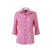 Ladies' Traditional Shirt - paars/wit