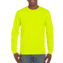 Gildan T-shirt Ultra Cotton LS Safety Green S