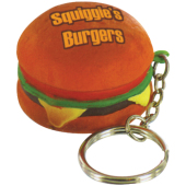 Anti-stress hamburger sleutelhanger