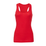 2x1 Rib Racerback Longer Tank Top XL Red