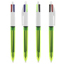 4 Colours Fluo ballpen LP clear yellow_UP white_RI black