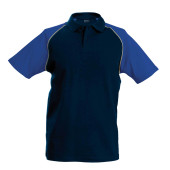 Baseballpolo navy / royal blue 'xl