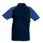 Baseballpolo navy / royal blue xl