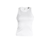 Angelina - dames racerback white xs