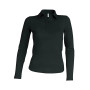 Damespolo lange mouwen black xl