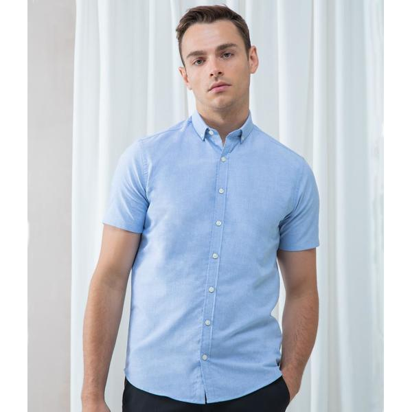 Modern Short Sleeve Slim Fit Oxford Shirt
