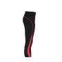 Ladies' Running Tights 3/4 zwart/tomaat
