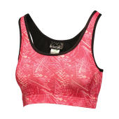 Asana Bra Top - Hot Pink Print