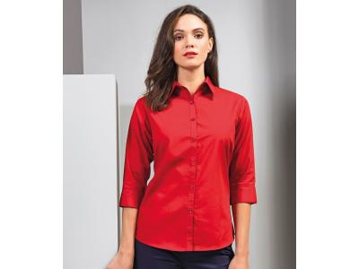 Ladies 3/4 Sleeve Poplin Blouse