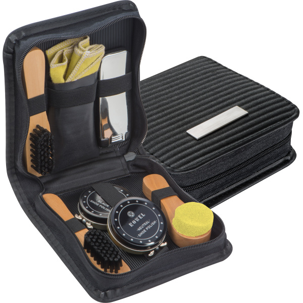 Shoe polishing and cleaning set