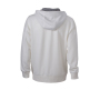Men's Lifestyle Zip-Hoody - gebroken wit/heather grijs
