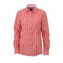 Ladies' Checked Blouse donkeroranje/wit