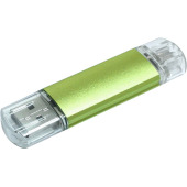 Aluminium On-the-Go (OTG) USB-stick - Groen - 32 GB