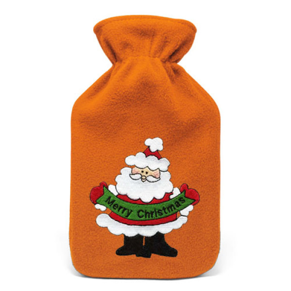 750 C.C. Rubber Hot Water Bottle Bags with Fleece Cover