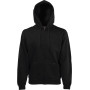 Classic hooded sweat jacket (62-062-0) black xxl