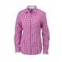 Ladies' Checked Blouse paars/wit