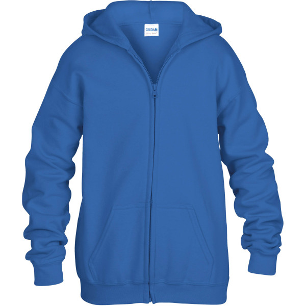Heavy blend™classic fit youth full zip hooded sweatshirt